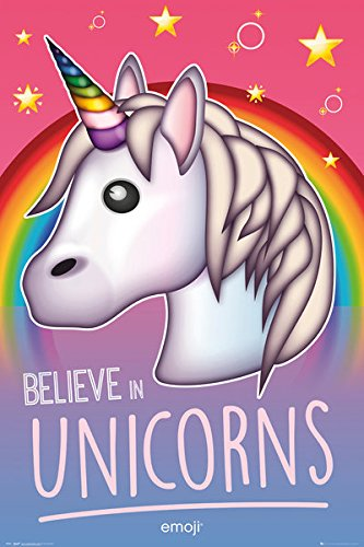 Unicorn Emoji - Motivational / Fantasy Poster / Print