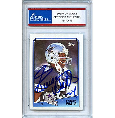 Everson Walls Autographed Signed 1988 Topps Trading Card - Certified - Walls Everson