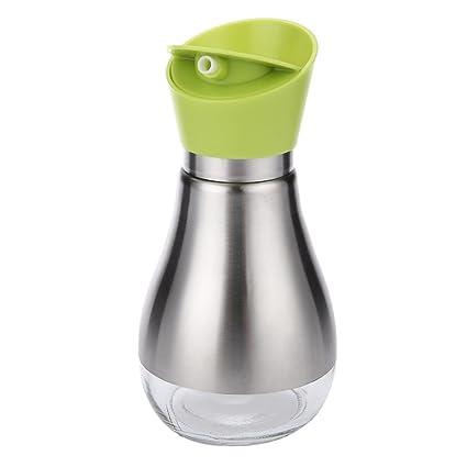 Alicemall Vinagrera Aceitera de Acero Inoxidable 400ml Dispensador de Condimentos Líquidos Botella para Aceite