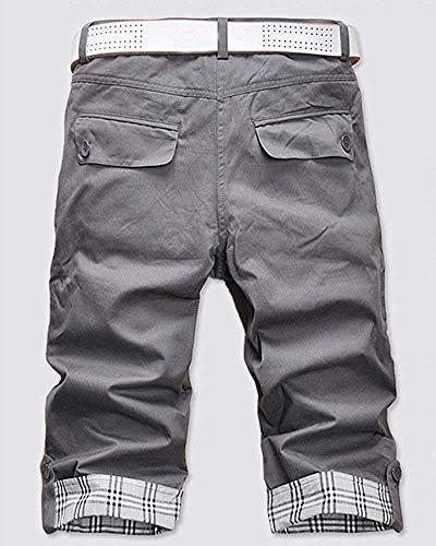 Fuweiencore Pieghe Grigio A Uomo Scuro Cargo Pantaloni Da colore Non M Casual Inclusa Dimensione cintura rqxfwr1T