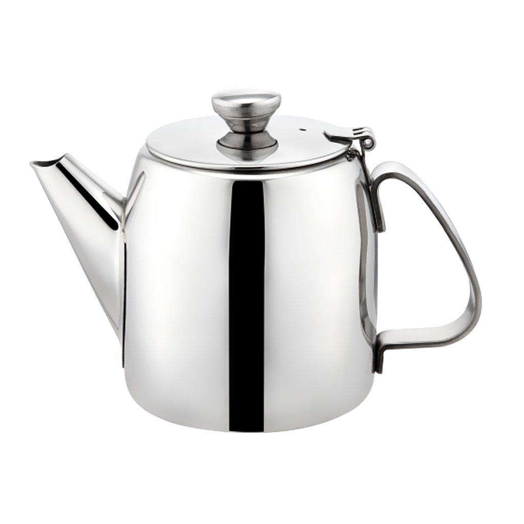 MonkeyJack Restaurant Stainless Steel Teapot Water Kettle Pitcher Coffee Pot Handle 500ml-2.8L - Silver, 1.3L