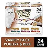 Purina Fancy Feast Gravy Wet Cat Food  Variety Pack, Gravy Lovers Poultry & Beef Feast Collection -...