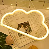 Neon Night Light,Cloud Lights Sign Battery/USB Operated for Birthday Party Wedding Bedroom Decorations Marquee Decor (Neon Cloud Warm White Light)