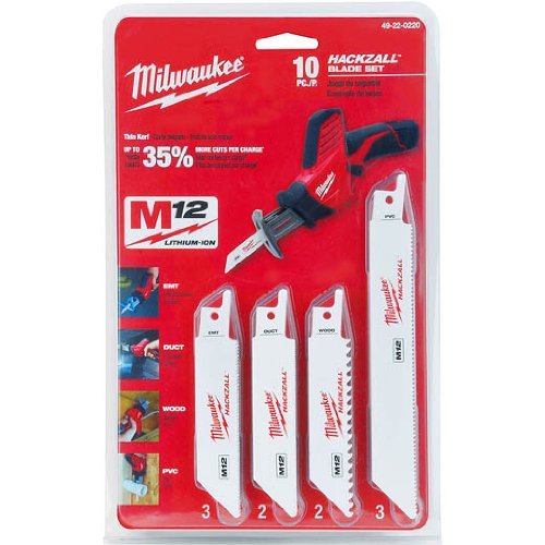 Milwaukee 49-22-0220 10-Piece General Purpose Hackzall Blade Set