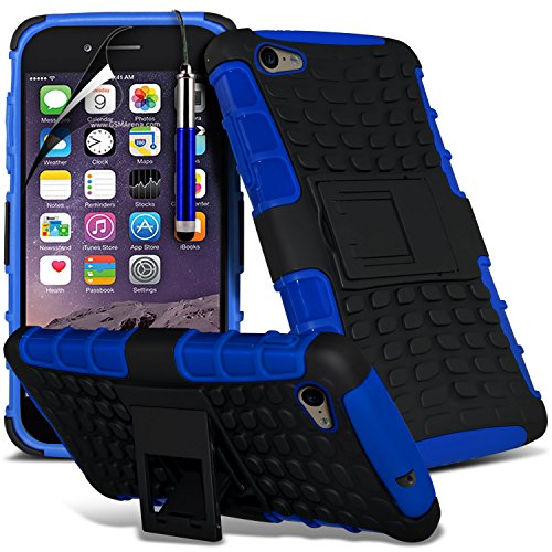Aventus ( Blue ) Apple iPhone 6S Plus étui Protective Elegant Robuste Preuve Survivor dur Rugged Shock Heavy Duty Case W / Retour stand, écran LCD Protecteur, Chiffon & Mini Stylet rétractable