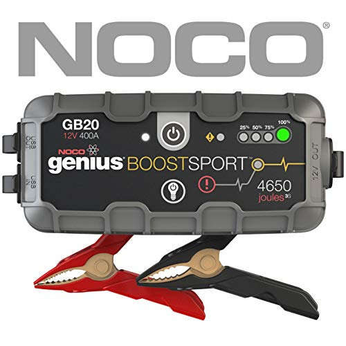 NOCO Boost Sport GB20 400 Amp 12V UltraSafe Lithium Jump Starter for up to 4L Gasoline Engines (Best Jump Starter 2019)