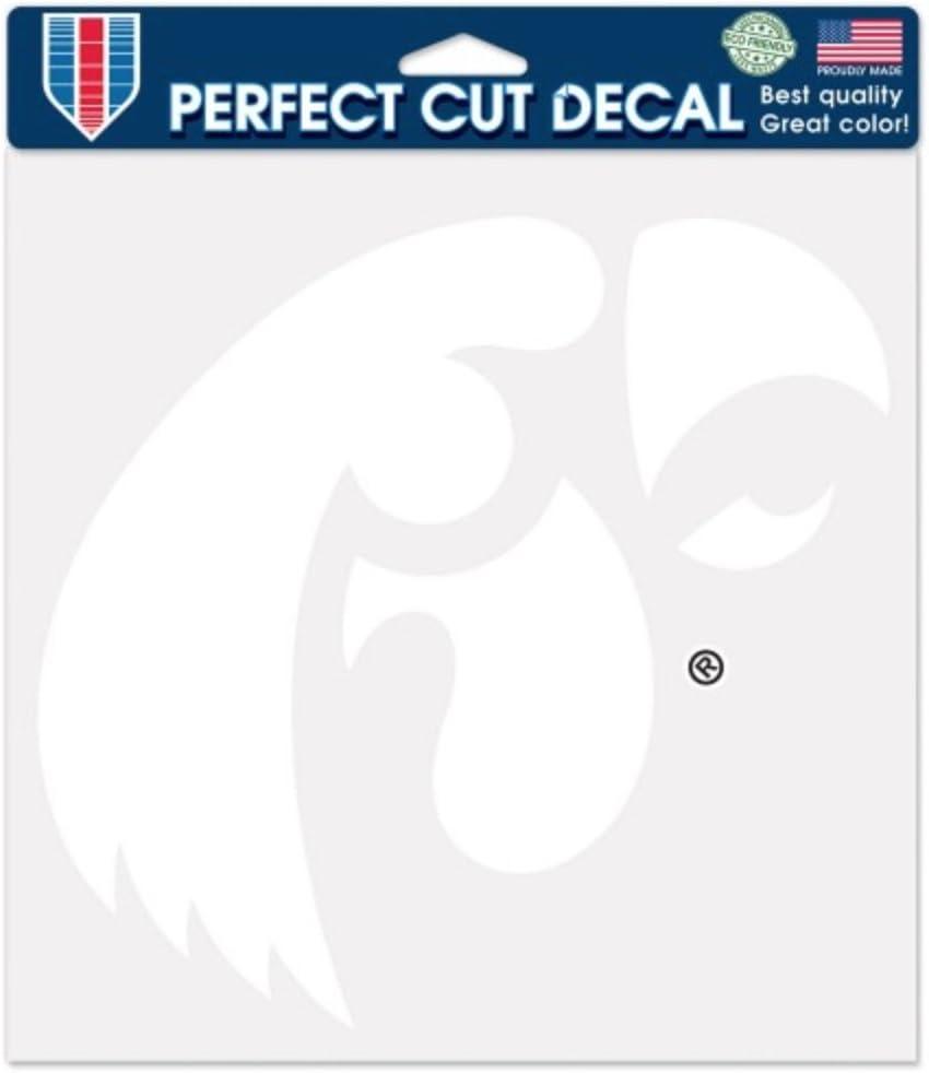 Wincraft NCAA University of Iowa Hawkeyes 6 x 6 inch White Decal