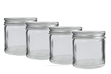 55622b43f25a 60ml Glass Cosmetic Jar with Aluminium Screw Lid. (Pack of 4) Suitable for  creams, herbs, candles, balms etc