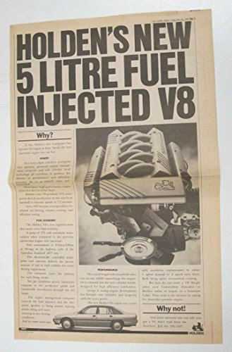 1989 Holden 5 Litre V8 Engine Large Newspaper Ad Australia