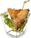 Zappy Square 6.8 oz Soup Cup Parfait Dessert Cups Dishes Shot Glasses Trifle ...