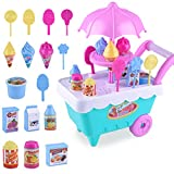 Yimosecoxiang Toys For 1-12 Years Old Boys Educational Lovely Simulation Candy Lollipop Ice Cream Plastic Trolley Children Girls Toy Random Color