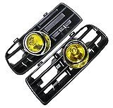 Heart Horse Front Lower Bumper Grille Fog Light Lamp for VW Golf MK4 GTI TDI 6000K 98 99
