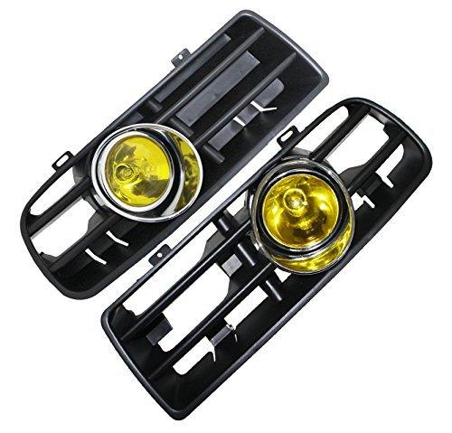 wer Bumper Grille Fog Light Lamp for VW Golf MK4 GTI TDI 6000K 98 99 ()