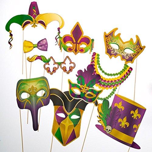 Fun Express Mardi Gras Handheld Costume Props]()