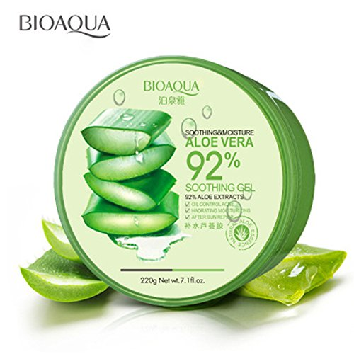 BIOAQUA 220g Hydrating Acne Spot Removing Face Night Cream Replenishiment 92% Aloe Vera Extracts Soothing moisture Gel