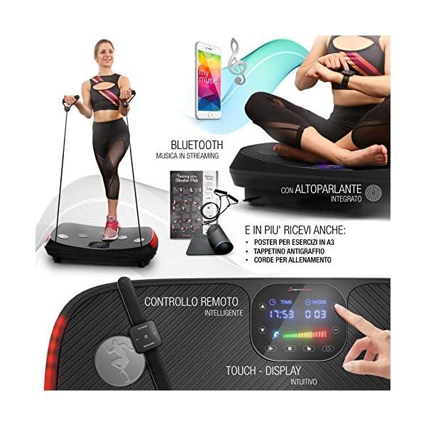 Novità 2020! Pedana vibrante 4D, Curved Design VP400 + video, display touch a colori, schermo XXL, tecnologia LED… 5 spesavip