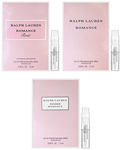 Ralph Lauren Romance Rose, Tender Romance & Romance Sample Sprays, 3 Piece Set ()