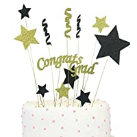 Congrats Grad Cake Topper 2018 Graduation Party Decorations