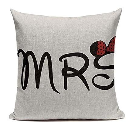 Amazon Lil Pepper Disney D40 Mrs Misses Missus Minnie Mouse Impressive Minnie Mouse Decorative Pillow