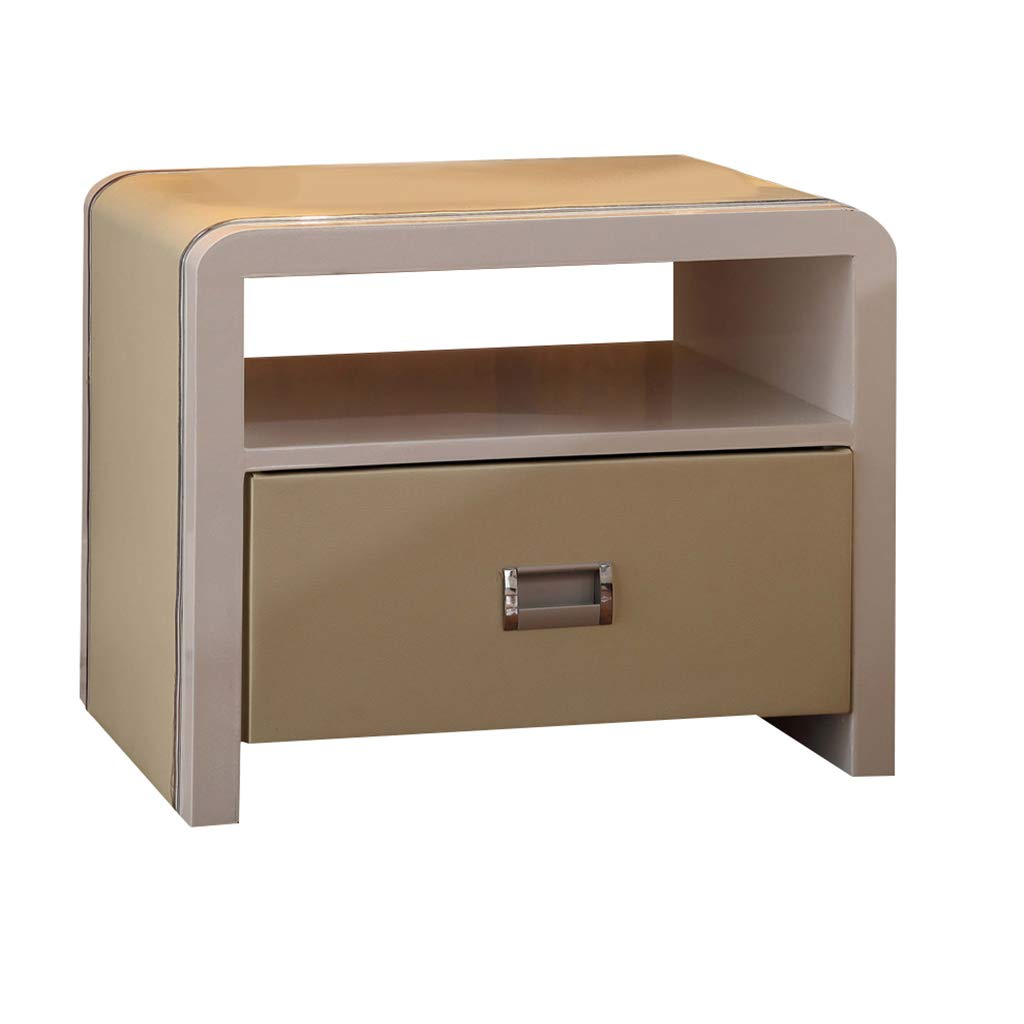 LQQGXLBedside Table Bedside Table Modern Stylish Bedroom Bedside Table with Drawer Storage Cabinet Furniture Small Side Table (Color : Beige) by LQQGXL