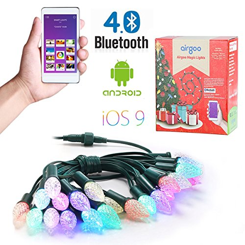 Airgoo 25ft Strawberry Shape Multi-Color Changing Smartphone Control Waterproof LED String Lights Outdoor for Party Holiday or Home Indoor Decoration and for more effects with an App