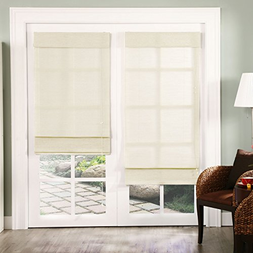 Chicology Standard Cord Lift Roman Shades Window Blind - Natural Polyester Roman Shade