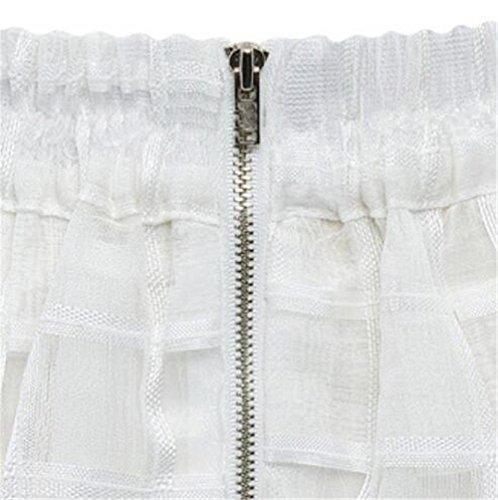 Jupe Femme Plisse Femelle Tendance Tulle Haililais Carreaux Fit Glamour Jupe Slim A White Skirt ElGant Jupe Line Jupe Court Loisir Jupe AzazTqnd