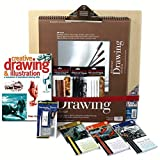 Artist Drawing Set, w/ Board, 3 Pencil & 3 Pastel Sets, 128pg Instruction Book & much more