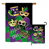 Ornament Collection S192056-BO Mardi Gras Spring Mardi Gras Impressions Decorative Vertical House 28″ X 40″ Garden 13″ X 18.5″ Double Sided Flags Set Printed in USA Multi-Color Review