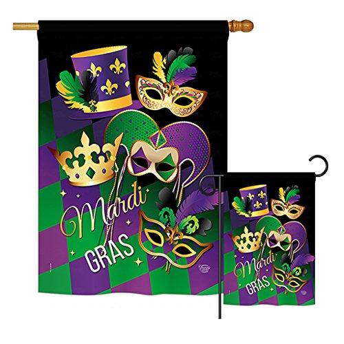 Ornament Collection S192056-BO Mardi Gras Spring Mardi Gras Impressions Decorative Vertical House 28