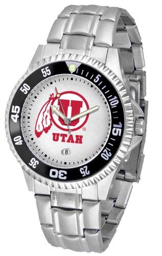 Utah Utes Competitor Steel Watch - Utah Utes NCAA