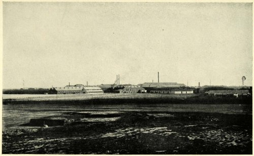 1906-print-argentina-river-plate-fresh-meat-campana-landscape-industry-building-original-halftone-pr