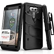 LG V20 Case, Zizo [Bolt Series] with FREE [LG V20 Screen Protector] Kickstand [Military Grade Drop Tested] Holster Belt Clip - Case for LG V20