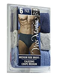 COLLECTION YVES MARTIN | Men's Briefs - Medium Rise / 6 Pack (200/6)