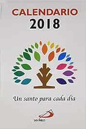 Calendario Un santo para cada día 2018 Calendarios y Agendas ...