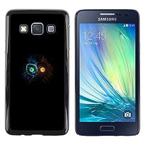 // PHONE CASE GIFT // Duro Estuche protector PC Cáscara Plástico Carcasa Funda Hard Protective Case for Samsung Galaxy A3 / Totem Máscara Ojos Brillantes /