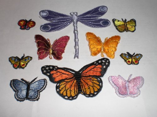 Patch It Up Iron-On Appliques Dragonfly Butterflies