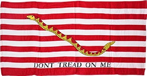 Gadsden Culpeper Don't Tread On Me 1st Navy Jack 30x60 Cotton Beach Towel by Novelty Stores Online]()