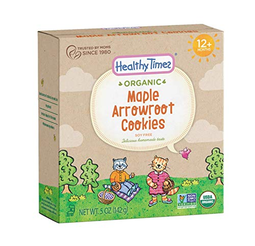 Healthy Times Organic Arrowroot Cookies, Maple, 5 ()