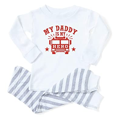 CafePress My Daddy is My Hero Firefighter Toddler Long Sleeve Pajama Set 8be05f9aa