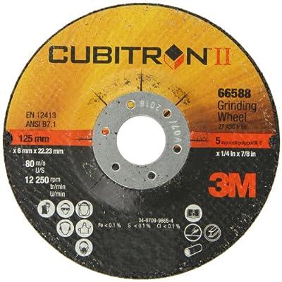 3M Cubitron II Depressed Center Grinding Wheel T27, Ceramic Grain