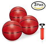 Toddler/Kids Replacement Mini Toy Basketball Rubber Basketball For Kids,Teenager6.29' Basketballs (3PCS With Pump)