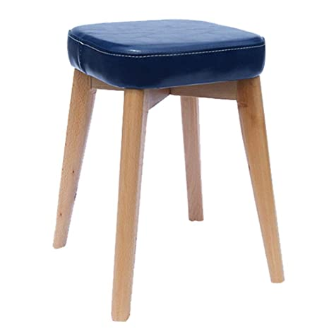 Awesome Amazon Com Zcxbhd Wooden Footstool Ottoman Leather Square Pdpeps Interior Chair Design Pdpepsorg