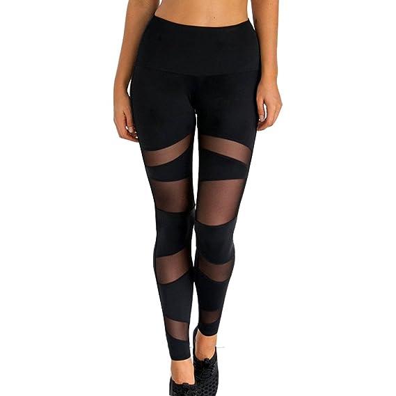 Juleya Mujer Leggins Push Up Tights Yoga - Mujeres Leggings Pantalones de  Chándal Elástico Pantalones de Fitness Color Sólido Cintura Alta de Correr  Mellas  ... dd0247ef1047