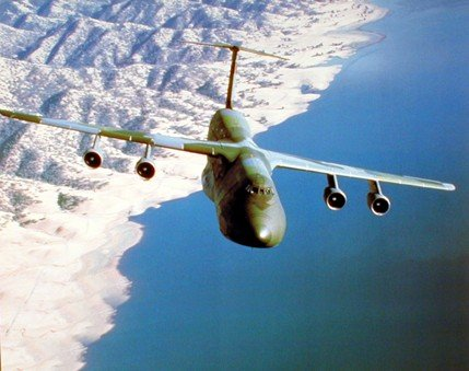Aircraft Wall Decor Military C-5 Cargo Plane Aviation Art Print Poster (16x20)