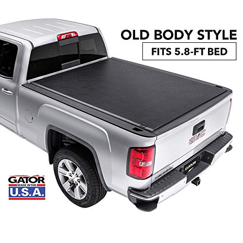 Gator ETX Soft Roll Up Truck Bed Tonneau Cover | 53109 | fits 14-18, 2019 GMC Sierra Limited/Chevy Silverado 1500 Legacy , 5.8' Bed | Made in the USA