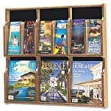 SAF5703MO - Safco Expose Adj Magazine/Pamphlet Six Pocket Display