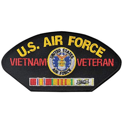 Hat Patch Veteran Vietnam - Medals of America U.S. Air Force Vietnam Veteran Hat Patch One Size Black