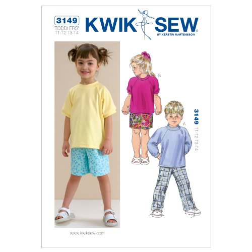 Kwik Sew K3149 Shirts Sewing Pattern, Pants and Shorts (Sewing Patterns For Toddler Boys)