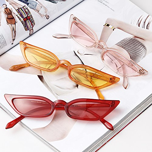 Vintage Sunglasses Women Cat Eye Candy lens Valentine's Day gift by ADEWU (Image #4)